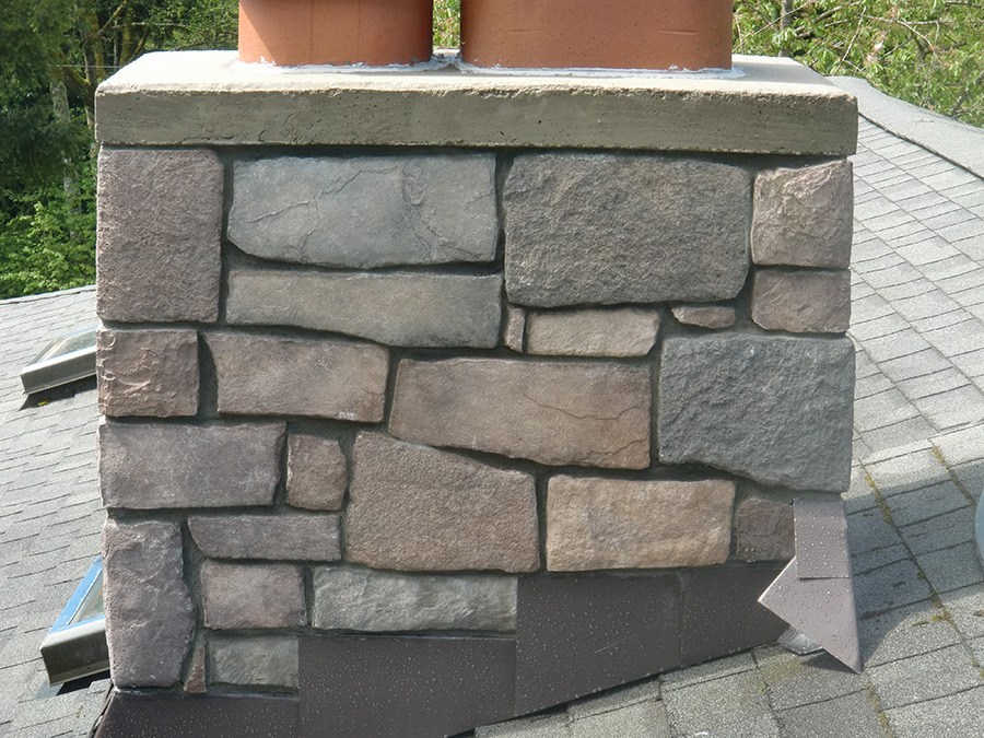 Chimney Rebuilding with Ledgestone